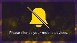 Purple Bokeh phones PowerPoint image