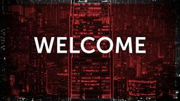 Red City Scene welcome PowerPoint image