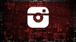 Red City Scene instagram PowerPoint image