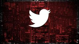 Red City Scene twitter PowerPoint image