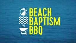 Calm Ocean beach baptism bbq PowerPoint Photoshop image