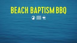 Calm Ocean beach baptism bbq announcement PowerPoint Photoshop image
