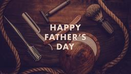 Classic Gentleman happy father's day PowerPoint Photoshop image