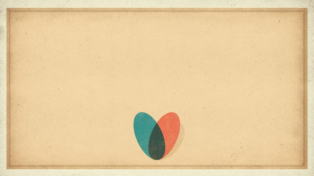 Two Color Heart large preview
