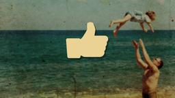 Nostalgic Beach Trip facebook PowerPoint image