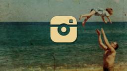 Nostalgic Beach Trip instagram PowerPoint image