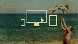 Nostalgic Beach Trip website PowerPoint image