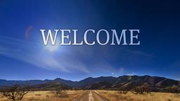 Desert Sky welcome PowerPoint image