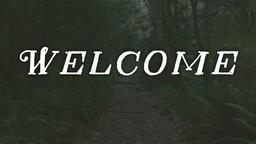 Faded Nature welcome PowerPoint image