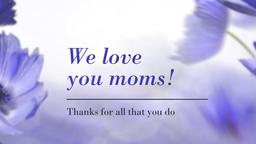 Purple Poppies we love you moms! PowerPoint Photoshop image