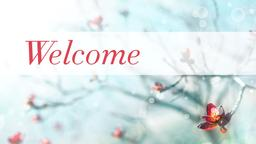Spring Bloom welcome PowerPoint image