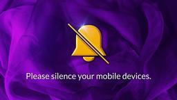 Purple Ribbon phones PowerPoint image