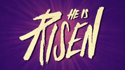 Purple Burst he is risen PowerPoint image
