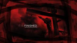 Cross in Red it is finished PowerPoint image