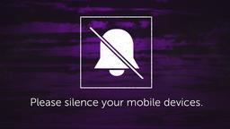 Purple Streaks phones PowerPoint image