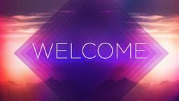 Purplescape welcome PowerPoint image