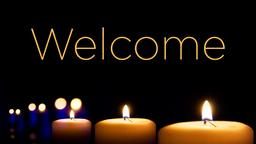 Candles in the Dark welcome PowerPoint image