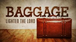 Baggage lighten the load PowerPoint image