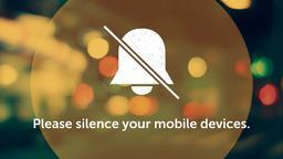 Blurred Bokeh phones PowerPoint image