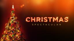 Christmas Tree with Lights spectacular PowerPoint image