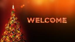 Christmas Tree with Lights welcome PowerPoint image