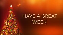 Christmas Tree with Lights have a great week! PowerPoint image