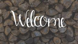 Firewood welcome PowerPoint image