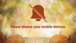 Fall Pumpkin phones PowerPoint image