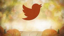 Fall Pumpkin twitter PowerPoint image