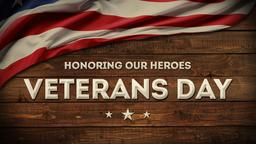 Veterans Day Wood PowerPoint image