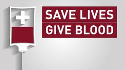 Blood Drive Grey PowerPoint image