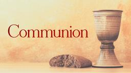 Communion Bread and Cup elements PowerPoint image