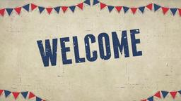 Labor Day Flags welcome PowerPoint image
