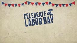 Labor Day Flags celebrate PowerPoint image