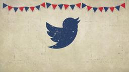 Labor Day Flags twitter PowerPoint image