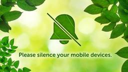 Summer Leaves phones PowerPoint image