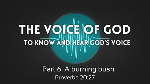 The voice of God Part 6a: A burning bush