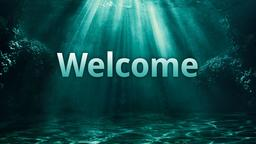 Ocean welcome PowerPoint image