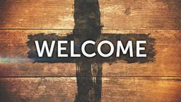 Weathered Cross welcome 1 PowerPoint image