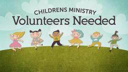Children's Helpers Needed ministry PowerPoint image