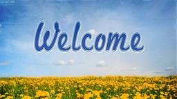 Dandelion Field welcome PowerPoint image