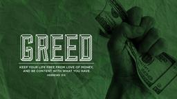 Green Greed PowerPoint image