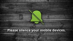Dark Wood phones PowerPoint image