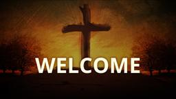 Painted Cross welcome 1 PowerPoint image