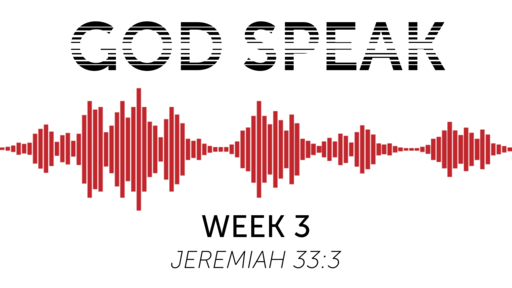 God Speak - Week 3