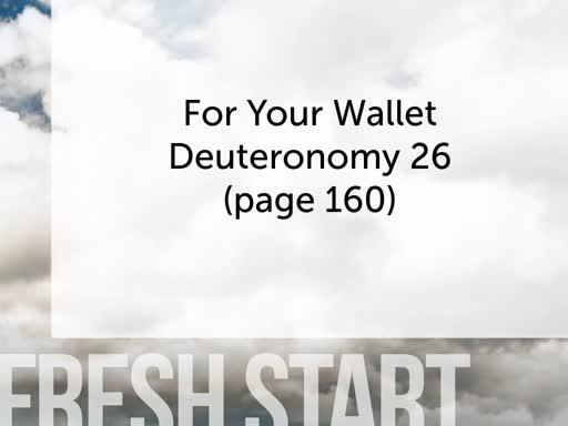 Fresh Start for Your Wallet