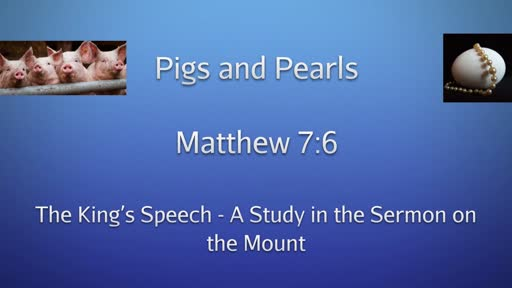 The King's Speech - A Study in the Sermon on the Mount
