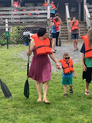 Cornerstone Picnic Going Canoeing