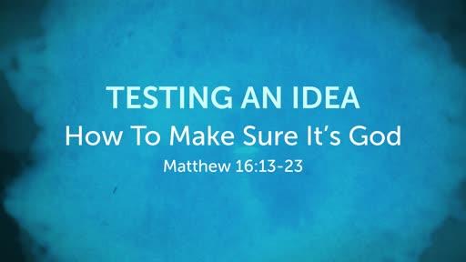 Testing an Idea