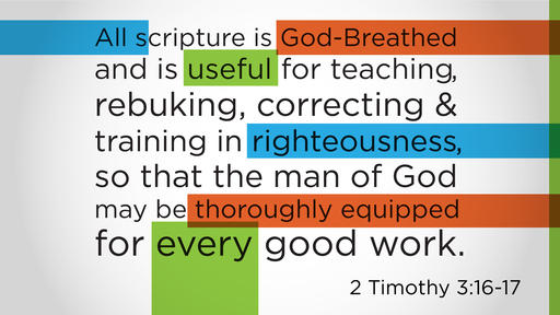 2 Timothy 3:16–17 verse of the day image